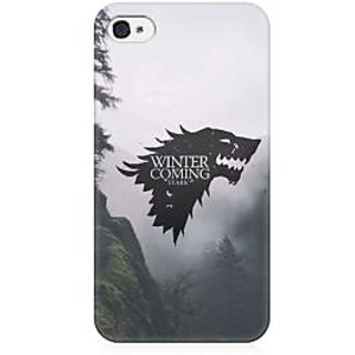 RAYITE Winter Is Coming Stark Premium Printed Mobile Back Case Cover For Apple IPhone 4/4s