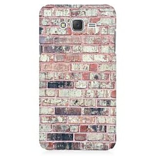 RAYITE Bricks Wall Premium Printed Mobile Back Case Cover For Samsung J2