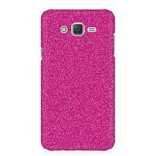 RAYITE Pink Glitter Print Premium Printed Mobile Back Case Cover For Samsung J1 2016 Version