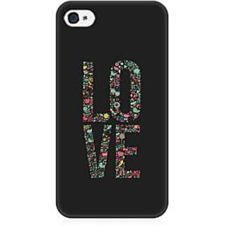 RAYITE Love Art Premium Printed Mobile Back Case Cover For Apple IPhone 4/4s