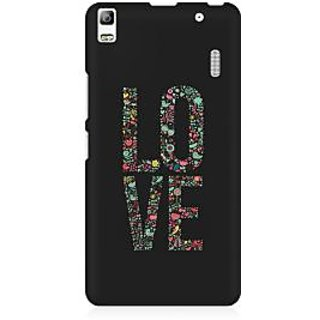 RAYITE Love Art Premium Printed Mobile Back Case Cover For Lenovo A7000
