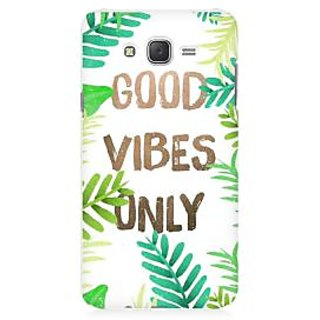 RAYITE Good Vibes Premium Printed Mobile Back Case Cover For Samsung J1 2016 Version