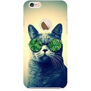 RAYITE Weed Lover Cat Premium Printed Mobile Back Case Cover For Apple IPhone 6-6s With Apple Hole