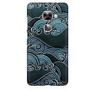 RAYITE Black Sea Waves Premium Printed Mobile Back Case Cover For LeEco Le 2