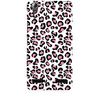 RAYITE Pink Cheetah Pattern Premium Printed Mobile Back Case Cover For Lenovo A6000