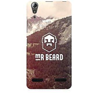 RAYITE Mr Beard Premium Printed Mobile Back Case Cover For Lenovo A6000