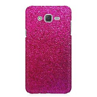 RAYITE Pink Glitter Print Abstract Premium Printed Mobile Back Case Cover For Samsung J1 Ace