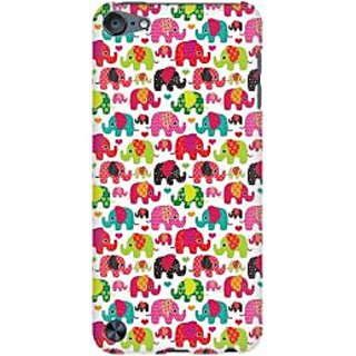 RAYITE Cute Elephant Pattern Premium Printed Mobile Back Case Cover For Apple IPod Touch 5