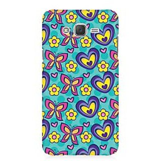 RAYITE Butterfly Heart Pattern Premium Printed Mobile Back Case Cover For Samsung J1 Ace
