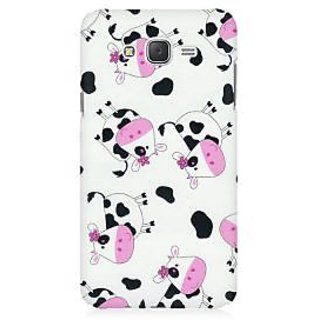 RAYITE Cute Cow Pattern Premium Printed Mobile Back Case Cover For Samsung J3