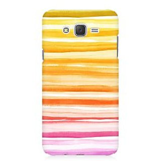 RAYITE Orange Pattern Premium Printed Mobile Back Case Cover For Samsung J1 Ace