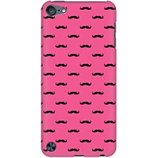 RAYITE Pink Moustache Premium Printed Mobile Back Case Cover For Apple IPod Touch 5