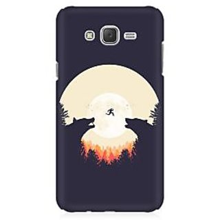 RAYITE Night Wolve Jump Premium Printed Mobile Back Case Cover For Samsung J1 Ace