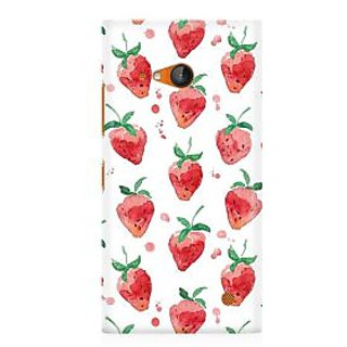 RAYITE Watercolor Strawberry Premium Printed Mobile Back Case Cover For Nokia Lumia 730