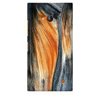 RAYITE Classic Wood Premium Printed Mobile Back Case Cover For Nokia Lumia 730