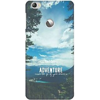 RAYITE Adventure Begins Premium Printed Mobile Back Case Cover For LeEco Le 1s
