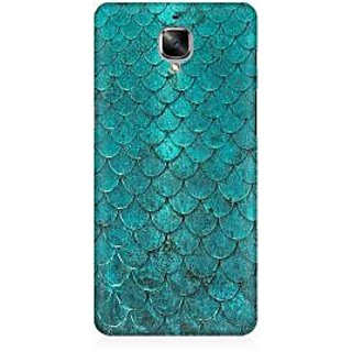 RAYITE Vintage Fish Scale Premium Printed Mobile Back Case Cover For OnePlus Three