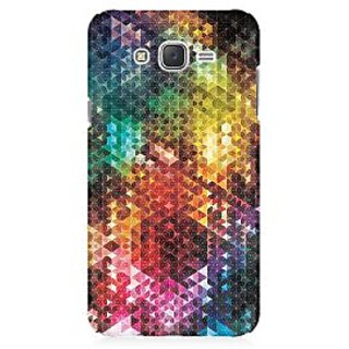 RAYITE Colourful Glitter Print Art Premium Printed Mobile Back Case Cover For Samsung J3