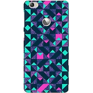 RAYITE Geometric Premium Printed Mobile Back Case Cover For LeEco Le 1s
