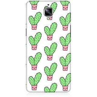 RAYITE Cactus Pattern Premium Printed Mobile Back Case Cover For OnePlus Three