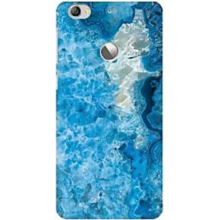 RAYITE Ice Blue Marble Premium Printed Mobile Back Case Cover For LeEco Le 1s
