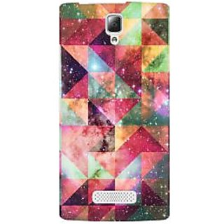 RAYITE Geometric Galaxy Art Premium Printed Mobile Back Case Cover For Lenovo A2010