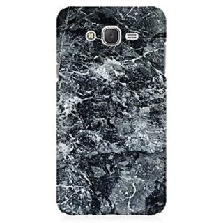 RAYITE Black Marble Premium Printed Mobile Back Case Cover For Samsung J3
