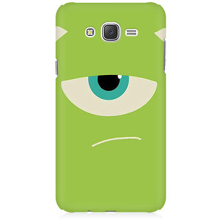 RAYITE Green Monster Premium Printed Mobile Back Case Cover For Samsung J5