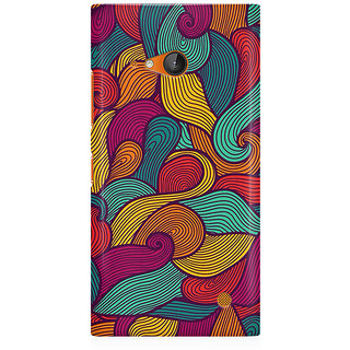 RAYITE Colourful Waves Premium Printed Mobile Back Case Cover For Nokia Lumia 730