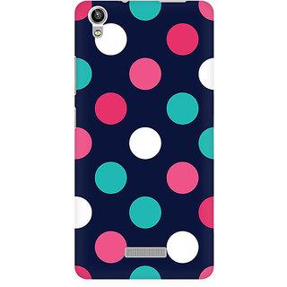 RAYITE Big Polka Dot Premium Printed Mobile Back Case Cover For Lava Pixel V1