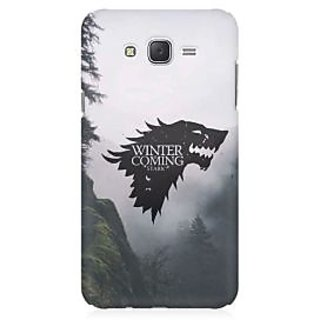 RAYITE Winter Is Coming Stark Premium Printed Mobile Back Case Cover For Samsung J1 Ace