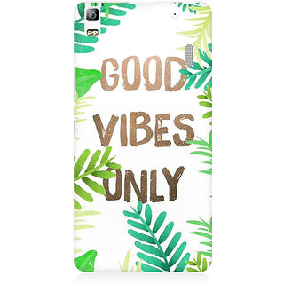 RAYITE Good Vibes Premium Printed Mobile Back Case Cover For Lenovo A7000