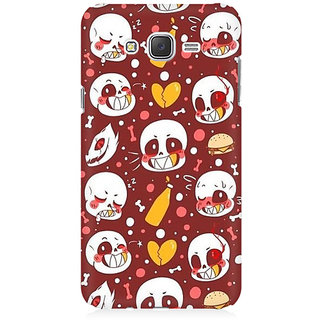 RAYITE Cute Skulls Premium Printed Mobile Back Case Cover For Samsung J1 2016 Version