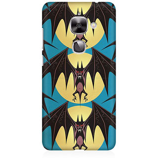 RAYITE Bat Pattern Premium Printed Mobile Back Case Cover For LeEco Le 2