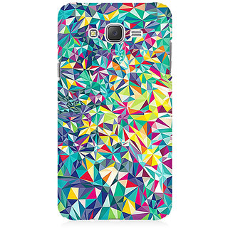 RAYITE Colourful Triangles Abstract Premium Printed Mobile Back Case Cover For Samsung J1 Ace