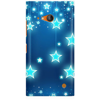 RAYITE Star Pattern Premium Printed Mobile Back Case Cover For Nokia Lumia 730