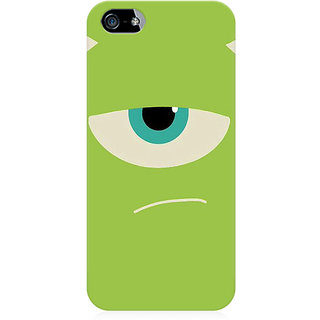 RAYITE Green Monster Preum Printed Mobile Back Case Cover For   5/5s/SE