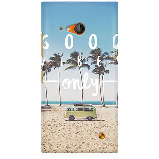 RAYITE Good Vibes Only Premium Printed Mobile Back Case Cover For Nokia Lumia 730