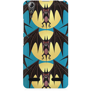 RAYITE Bat Pattern Premium Printed Mobile Back Case Cover For Lenovo A6000