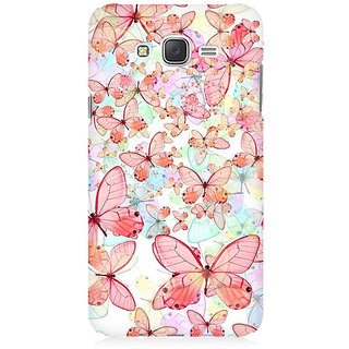 RAYITE Butterflies Premium Printed Mobile Back Case Cover For Samsung J1 Ace