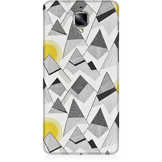 RAYITE Black And White Sketch Premium Printed Mobile Back Case Cover For OnePlus Three