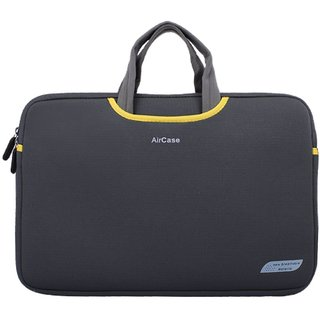AirPlus Aircase 15.6 Inch Designer Neoprene Protective Handle Sleeve For Laptops Space Gray