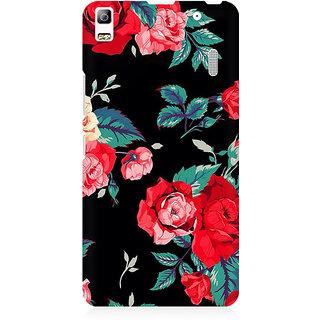 RAYITE Black Rose Print Premium Printed Mobile Back Case Cover For Lenovo A7000