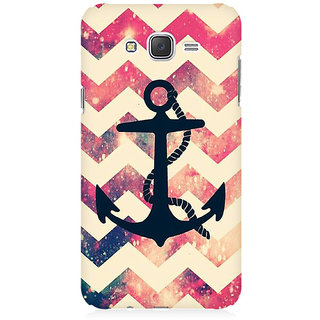 RAYITE Anchor Chevron Premium Printed Mobile Back Case Cover For Samsung J5