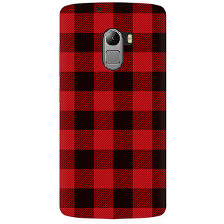 RAYITE Plaid Pattern Premium Printed Mobile Back Case Cover For Lenovo A7010