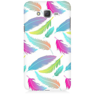 RAYITE Colourful Leafy Pattern Premium Printed Mobile Back Case Cover For Samsung J5