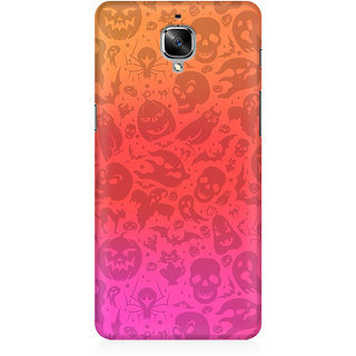 RAYITE Watercolor Ghost Pattern Premium Printed Mobile Back Case Cover For OnePlus Three