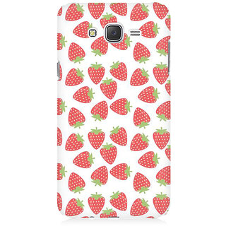 RAYITE Strawberry Pattern Premium Printed Mobile Back Case Cover For Samsung J5