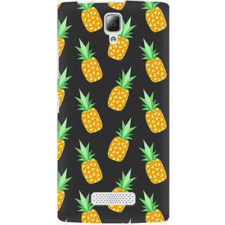 RAYITE Geometric Pineapple Premium Printed Mobile Back Case Cover For Lenovo A2010