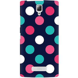 RAYITE Big Polka Dot Premium Printed Mobile Back Case Cover For Lenovo A2010